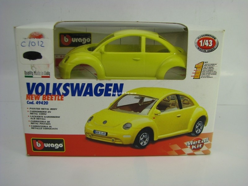 Volkswagen New Beetle Yellow 1:43 KIT Bburago 49420